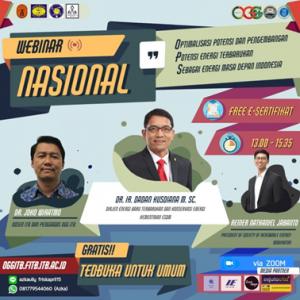 Webinar Nasional OGG: Bahas Potensi dan Pengembangan Energi Baru Terbarukan di Indonesia